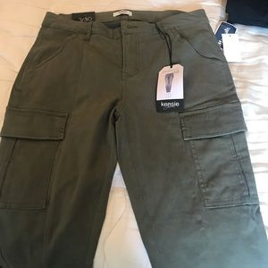 Green cargo jeans by Kensie. Brand new